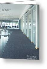 Corridor In A Modern Office Greeting Card by Iain Sarjeant