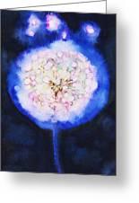 Cosmic Bloom Greeting Card by Tara Thelen