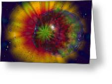 Cosmic Light Greeting Card by Linda Sannuti