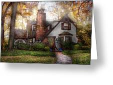 Cottage - Westfield Nj - Grandma Ridinghoods House Greeting Card by Mike Savad