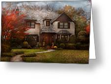 Cottage - Westfield Nj - The Country Life Greeting Card by Mike Savad