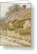 Cottage Near Wells Somerset Greeting Card by Helen Allingham