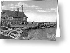 Cottage Park Yacht Club 1902 Greeting Card by Extrospection Art
