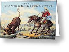 Cotton Thread Trade Card Greeting Card by Granger