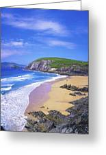 Coumeenoole Beach, Dingle Peninsula, Co Greeting Card by The Irish Image Collection
