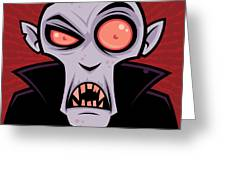 Count Dracula Greeting Card by John Schwegel
