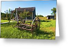 Country Classic Oil Greeting Card by Steve Harrington