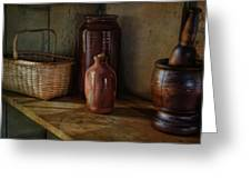 Country Cupboard Greeting Card by Robin-lee Vieira