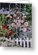 Country Garden 3 Of 3 Greeting Card by Andrew Drozdowicz