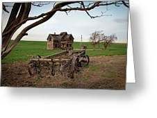 Country Home and Wagon Greeting Card by Athena Mckinzie