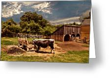 Country Life Greeting Card by Lourry Legarde