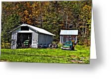 Country Life Greeting Card by Steve Harrington