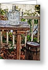 Country Porch Greeting Card by Kathy Jennings