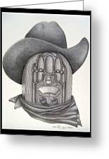 Country Radio Greeting Card by Diana Lehr