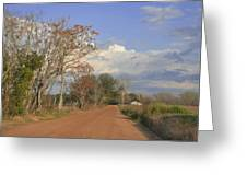 Country Road Greeting Card by Jan Amiss Photography