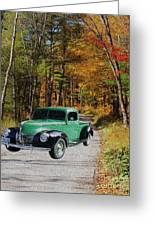 Country Roads Greeting Card by Cheryl Young