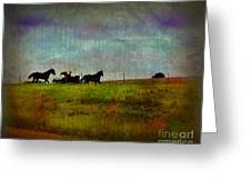 Country Wagon 2 Greeting Card by Perry Webster