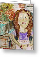 Countryside Girl Greeting Card by Mary Carol Williams