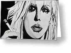 Courtney Love Greeting Card by Cat Jackson
