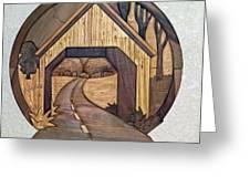 Covered Bridge Greeting Card by Bill Fugerer