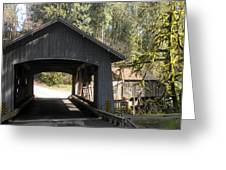 Covered Bridge Greeting Card by Garry Kaylor