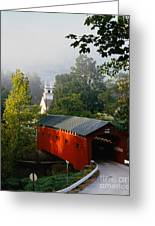 Covered Bridge Greeting Card by Rafael Macia and Photo Researchers