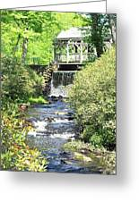 Covered Bridge Greeting Card by Sara Walsh