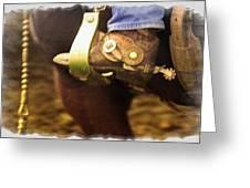Cowboy Boot Greeting Card by Carson Ganci