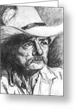 Cowboy In Hat Sketch Greeting Card by Kate Sumners