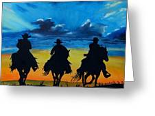 Cowboy  Sunset Greeting Card by Stefon Marc Brown
