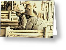Cowboys Greeting Card by Don Youngclaus