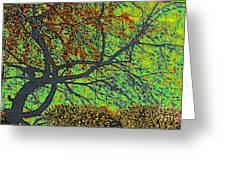 Crabapples West Acid Pop Greeting Card by Feile Case
