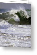 Crashing Wave Greeting Card by Timothy OLeary
