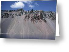 Crater Lake Volcanic Wall, Usa Greeting Card by Dr Juerg Alean
