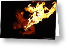Creating With Fire Greeting Card by Bob Christopher