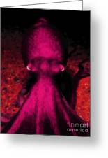 Creatures Of The Deep - The Octopus - V4 - Violet Greeting Card by Wingsdomain Art and Photography