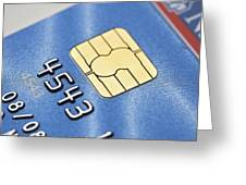 Credit Card Microchip Greeting Card by Jon Stokes