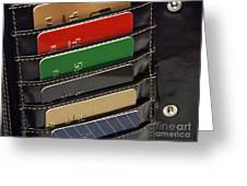 Credit Cards In Wallet Greeting Card by Blink Images