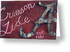 Crimson Tide Greeting Card by Racquel Morgan