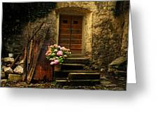Croatian Stone House Greeting Card by Don Wolf