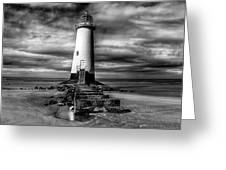 Crooked Lighthouse Greeting Card by Adrian Evans