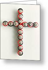 Cross Batteries 1 A Greeting Card by John Brueske