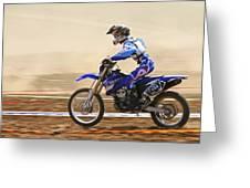 Cross Country Motorbike Racing Greeting Card by Photostock-israel