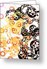 Crosses And Chains Greeting Card by Melissa  Hardiman