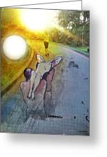 Crossing Greeting Card by Paulo Zerbato