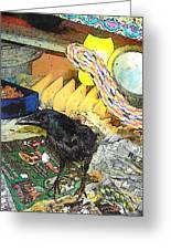 Crow In Rehab Greeting Card by YoMamaBird Rhonda