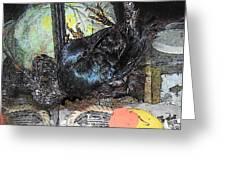Crow Rehab Greeting Card by YoMamaBird Rhonda