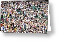 Crowd Of People Greeting Card by Carlos Dominguez