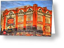 Crown Hotel Greeting Card by Barry R Jones Jr