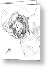 Crucifixion 3 Greeting Card by Miguel De Angel